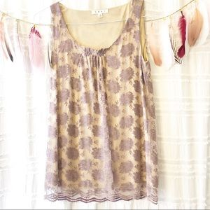 CAbi | Intrigue Lace Tank Top NWOT